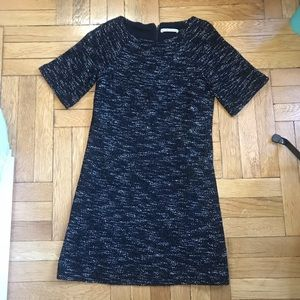 Alice+Olivia SS Black and Gray Wool Shift Dress